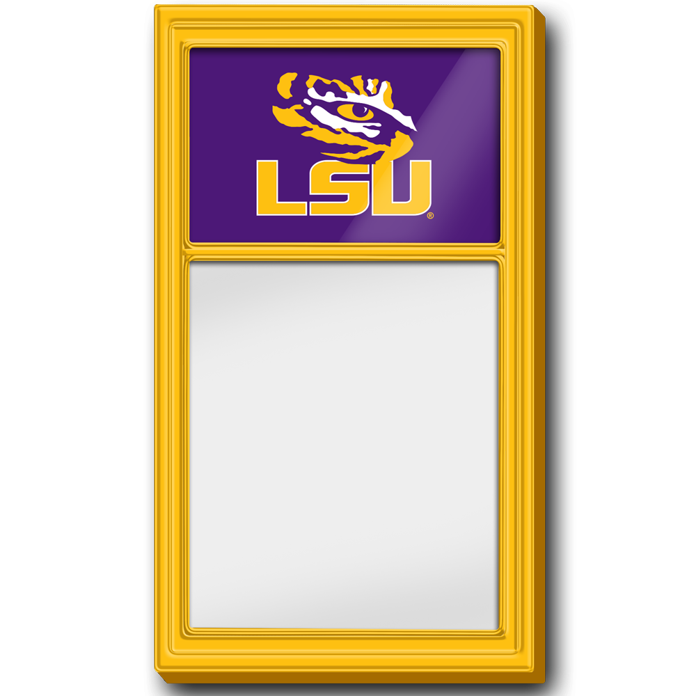 LSU Tigers: Dry Erase Noteboard