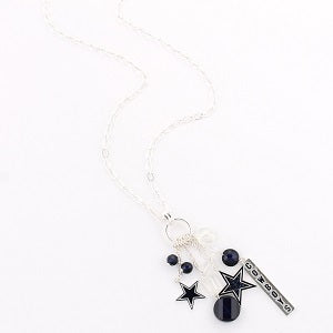 Dallas Cowboys --- Cluster Necklace