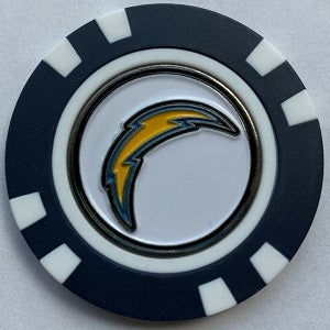 Los Angeles Chargers --- Poker Chip Ball Marker