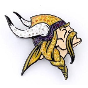 Minnesota Vikings --- Crystal Logo Pin