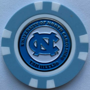 NC Tar Heels --- Poker Chip Ball Marker