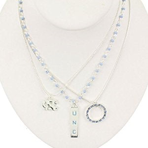 NC Tar Heels --- Trio Necklace