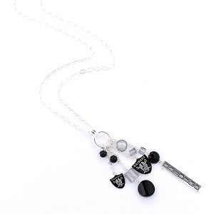 Oakland Raiders --- Cluster Necklace