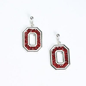 Ohio State Buckeyes --- Crystal Logo Earrings