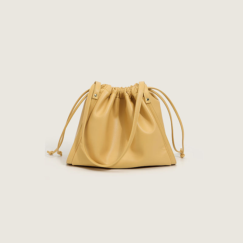 Women's Shoulder Tote Bags with Drawstring