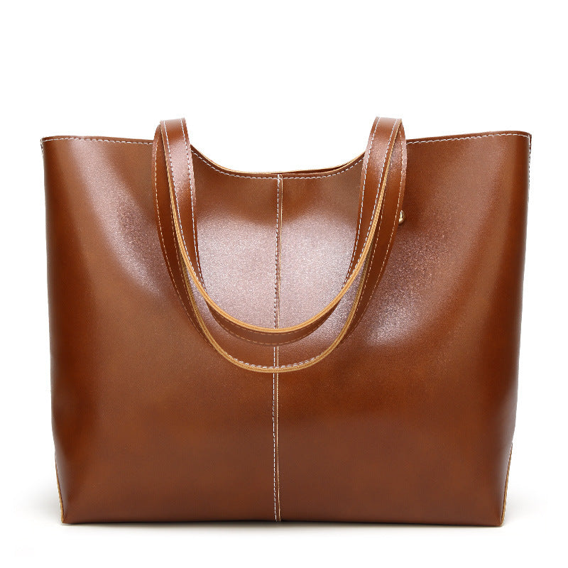Women's Large Tote Bags in Wax Vegan Leather