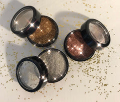 Trio of Loose Powders Genuine Gold + Silver + Copper