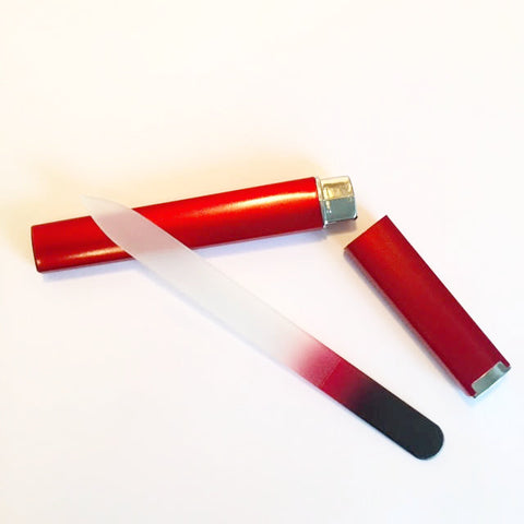 Red Crystal Glass File + Case