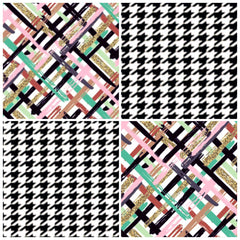 Alexandra's Inspiration / I Plaid Guilty & Pied de Poule / 4 Strips