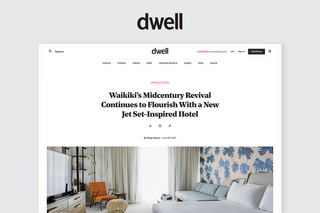 Dwell: Featuring Kiriko's Custom Hats and Products at The Laylow hotel, Waikiki