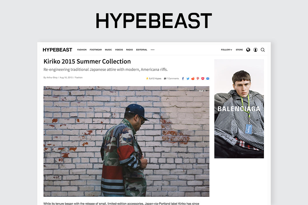 HYPEBEAST: Re-engineering traditional Japanese attire with modern, Americana riffs.