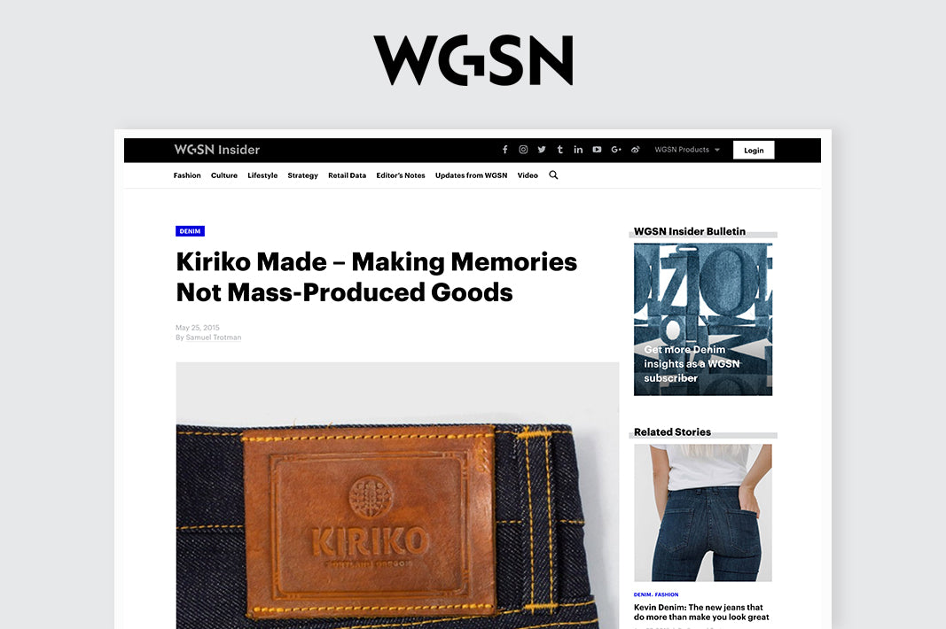 WGSN - Making Memories Not Mass-Produced Goods
