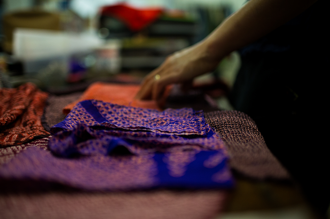 Behind the Scenes : Making Patched Infinity Scarves