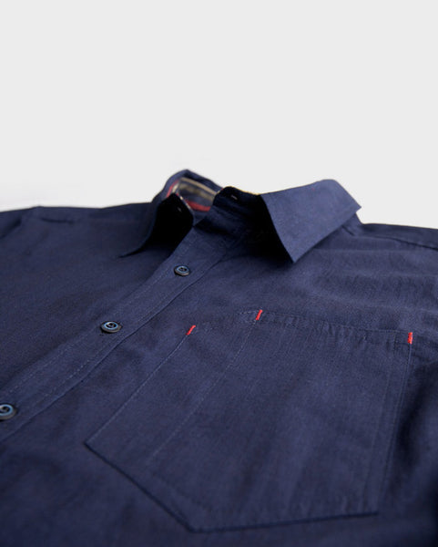 Bridge & Burn x Kiriko: Yama Shirt, Indigo