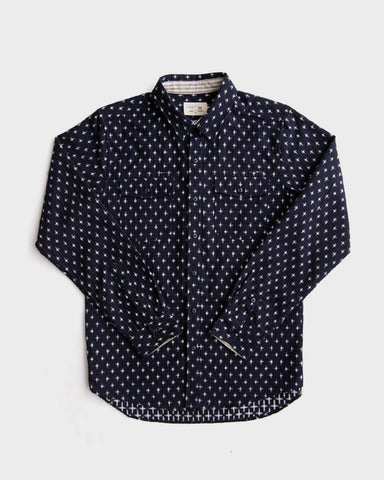 Bridge & Burn x Kiriko: Senjo Button-up, Cross Kasuri
