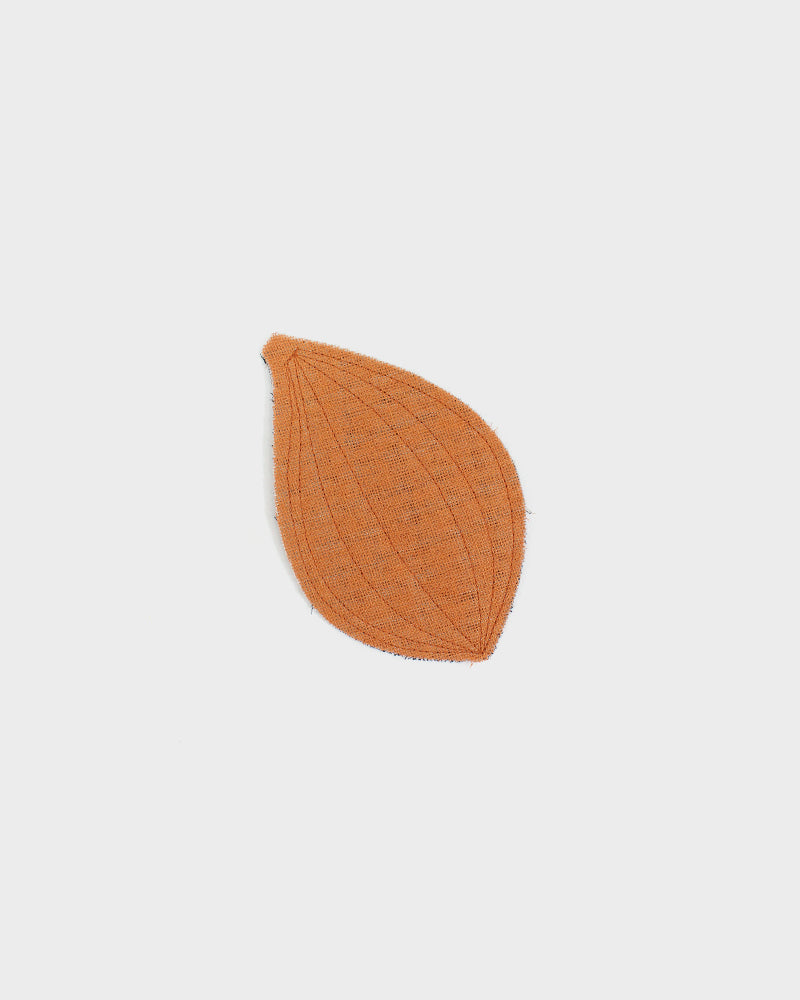 Ban Inoue, Leaf Shaped Coaster, Orange and Black