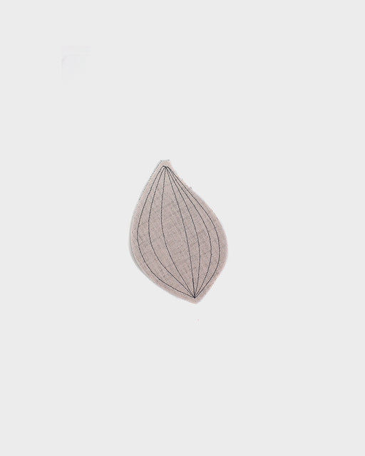 Ban Inoue, Leaf Shaped Coaster, White and Charcoal