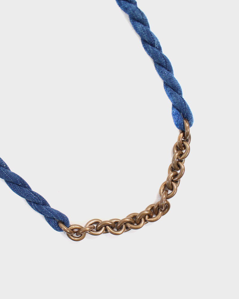 Boet X Kiriko Boro Collar Necklace, Indigo