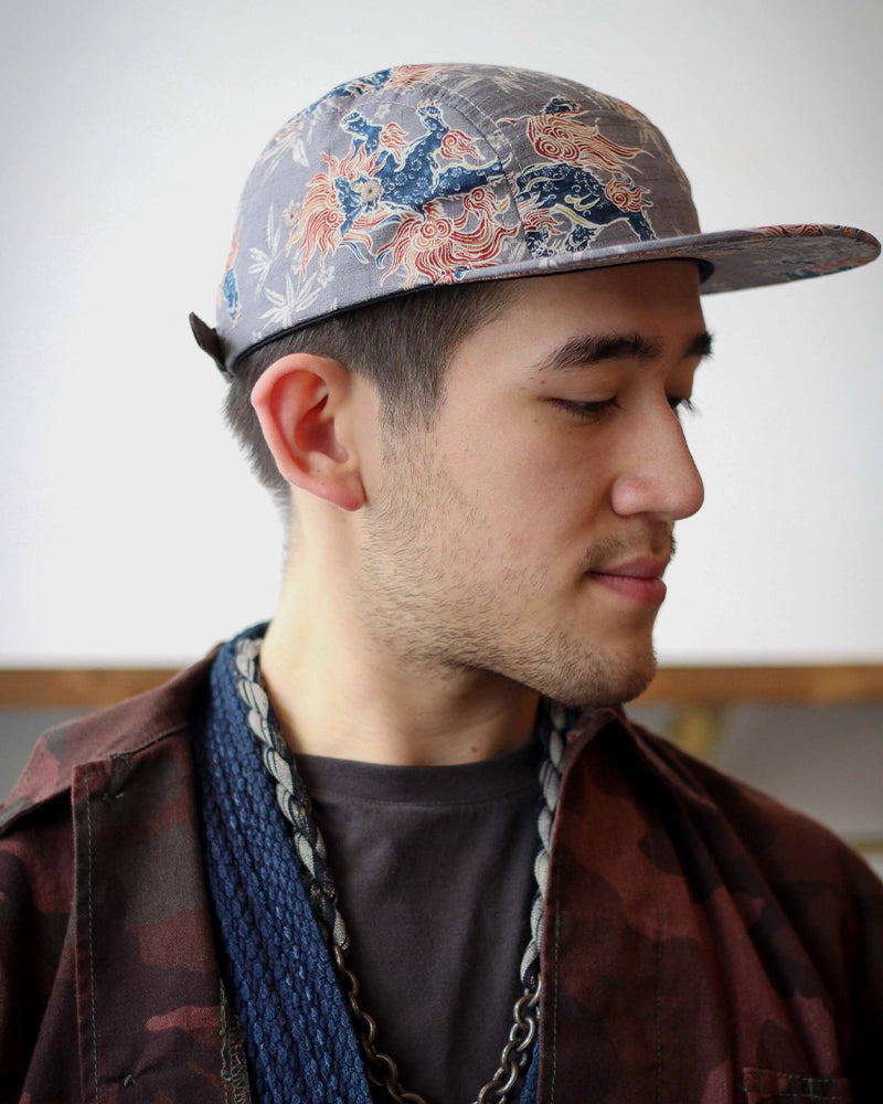 5-Panel Grey Shishi Cap