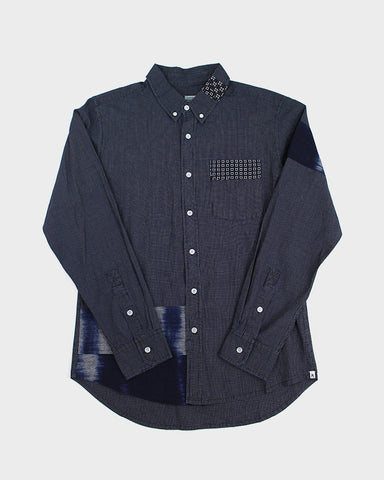 Bridge & Burn x Kiriko Hitotsu, Men's Indigo Grid Shirt