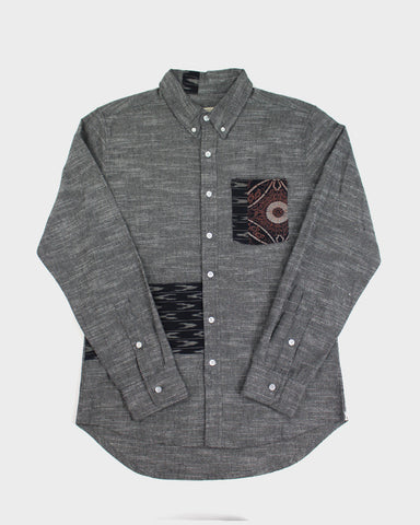 Bridge & Burn x Kiriko Hitotsu, Men's Grey Stripe Shirt
