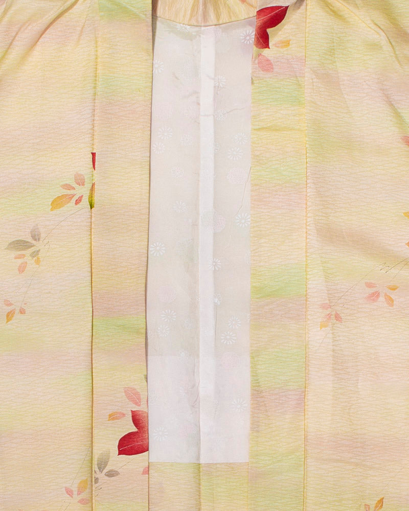 Vintage Haori Jacket, Pastels with Falling Flowers