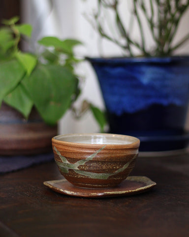 Mashiko-Yaki Rustic Brown Tea Cup, 1