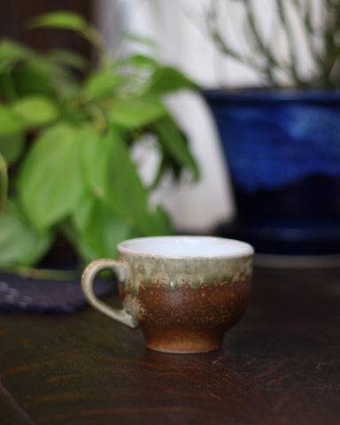 Mashiko-Yaki Rustic Brown Tea Cup