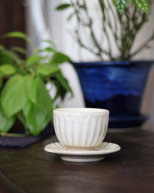 Mashiko-Yaki White Shell Tea Cup
