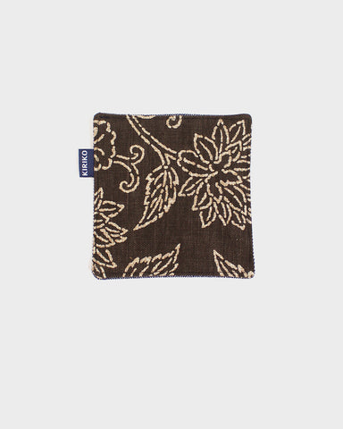 Coaster Set of 5, Katazome Brown