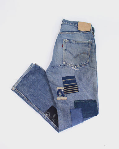 One of a Kind Patched Vintage Levi's Big E