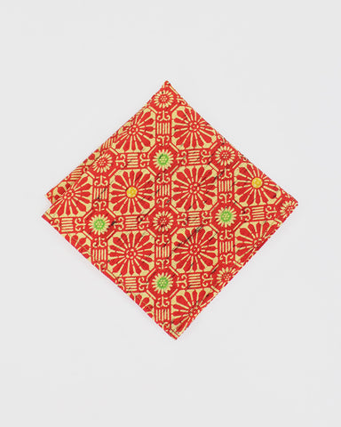 Pocket Square Kimono Orange Chrysanthemum