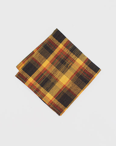 Pocket Square Kimono Yellow Plaid