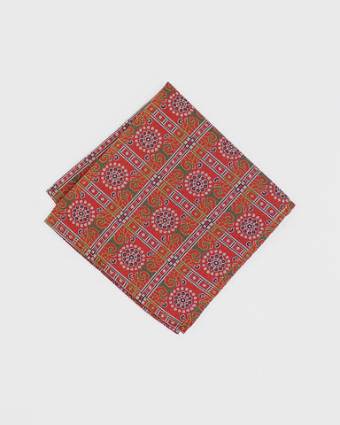 Pocket Square Kimono Ornate Chrysanthemum