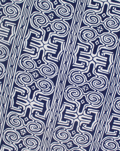 Ainu Scarf, White and Navy