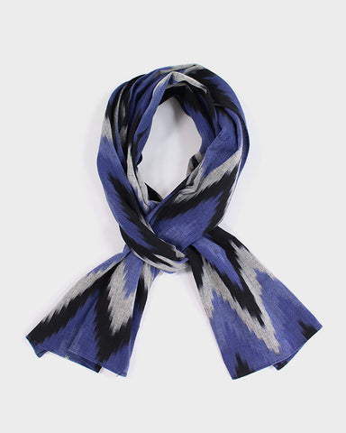 Purple Ikat Scarf