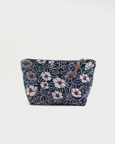 Stand-up Pouch, Navy Tsubaki