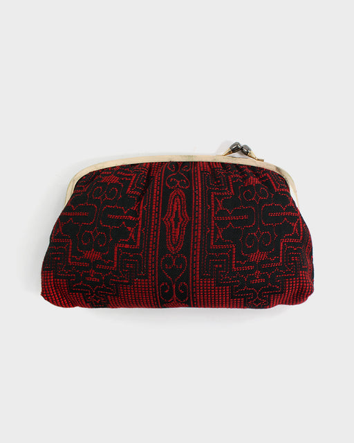 Ainu Vintage Clutch, Black and Red
