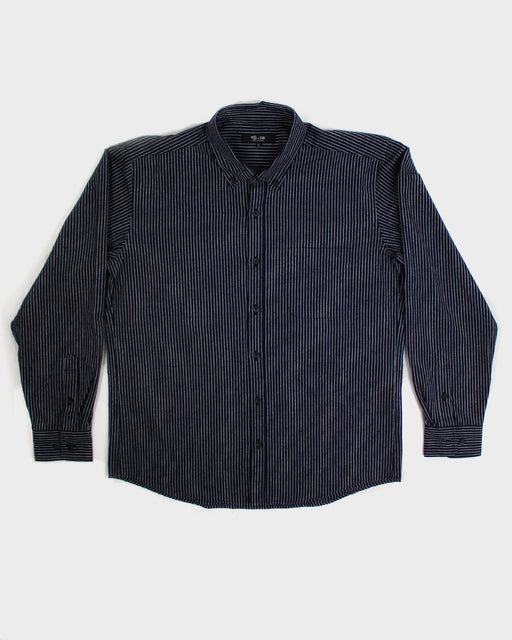 Long Sleeve Button-Up Indigo Shima