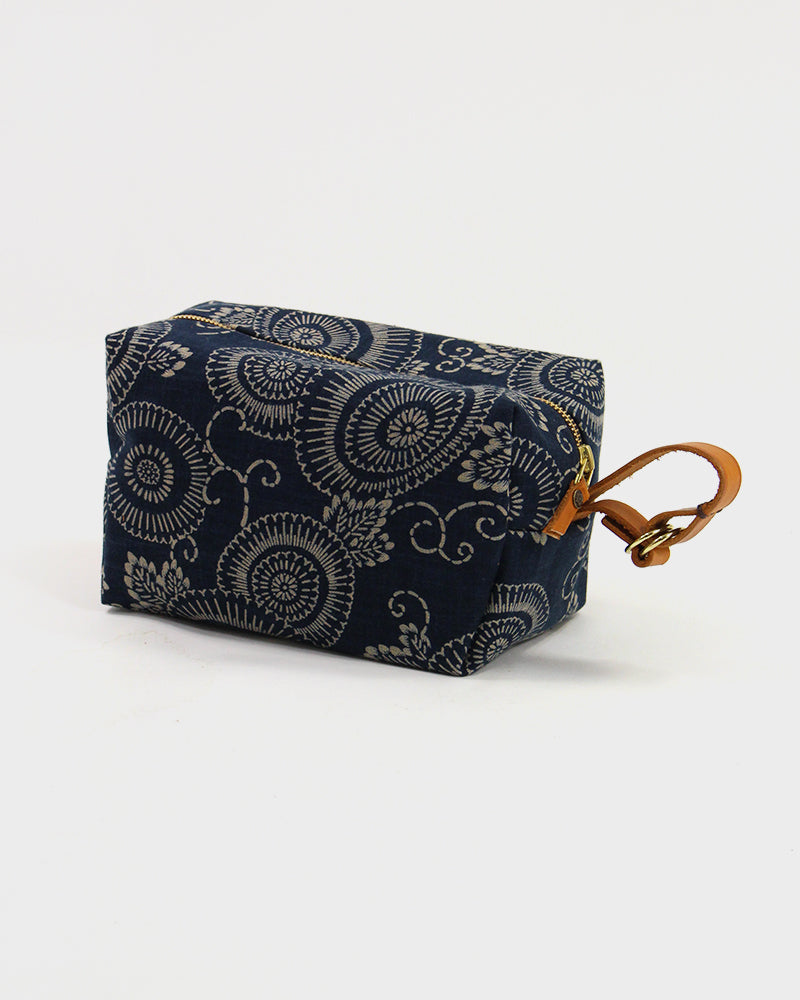 Dopp Kit, Indigo Large Kiku