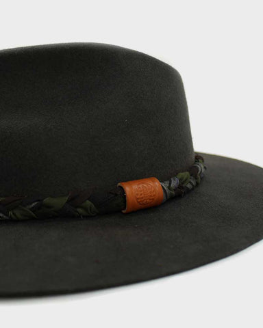 Kiriko Wool Felt Hat, Vintage Boro and Furoshiki Hat Band