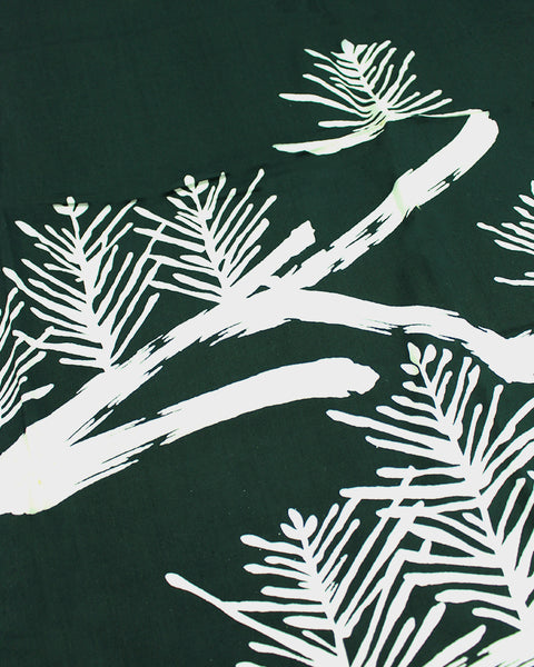 Vintage Furoshiki, Forest Green with White Pines