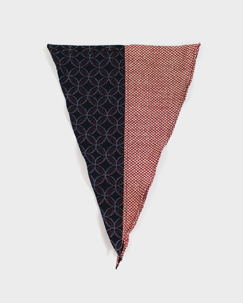Split Neckerchief, Red Kasuri Shippou and Shibori