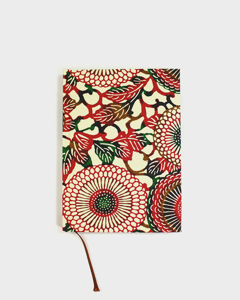 Japanese Notebook, Red Kiku