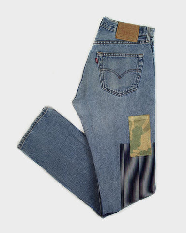 "One of a Kind Leviʻs Denim, ""Kiku Obi"""