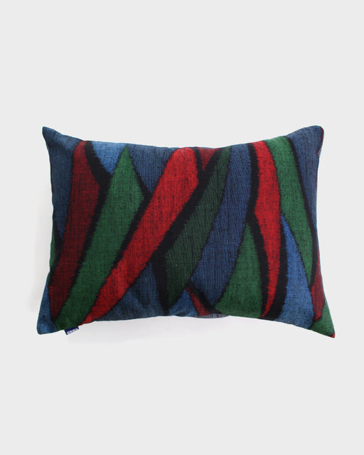 Abstract Nami with Blue, Green and Red Pillow
