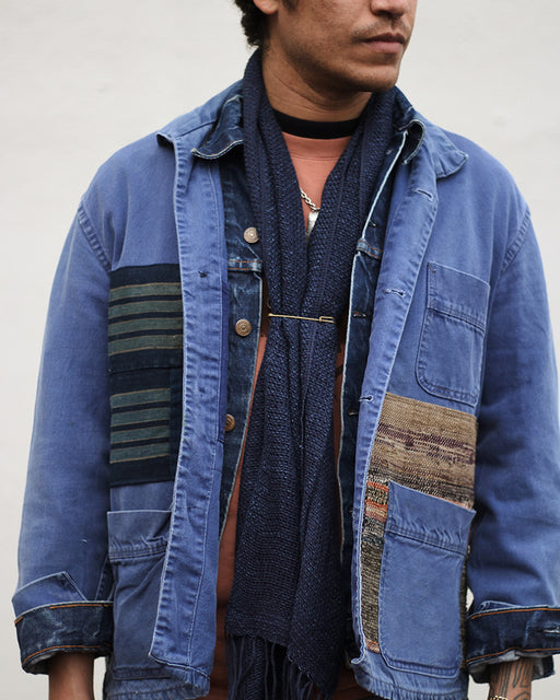 Patched Vintage French Workman Jacket 14 (M)