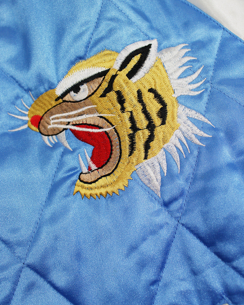 Vintage Japanese Sukajan, Blue and White Eagle and Tiger (M)