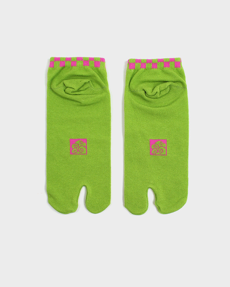 Tabi Ankle Socks, Green Usagi