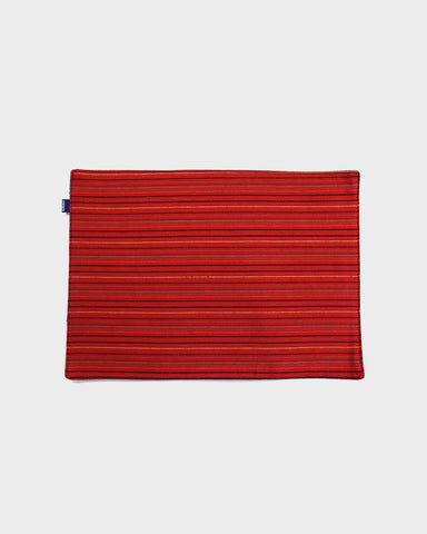 Table Mat Set of 4, Bright Red Shima
